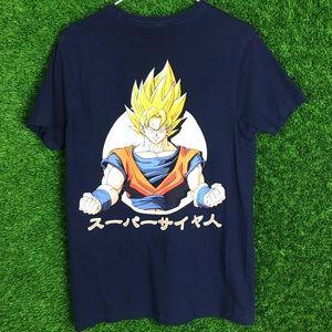 Dragon Ball Z Super Saiyan Goku T Shirt Anime Navy